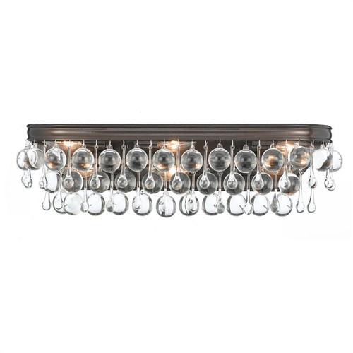 Crystorama Calypso 6 Light Bronze Vanity Light - 1