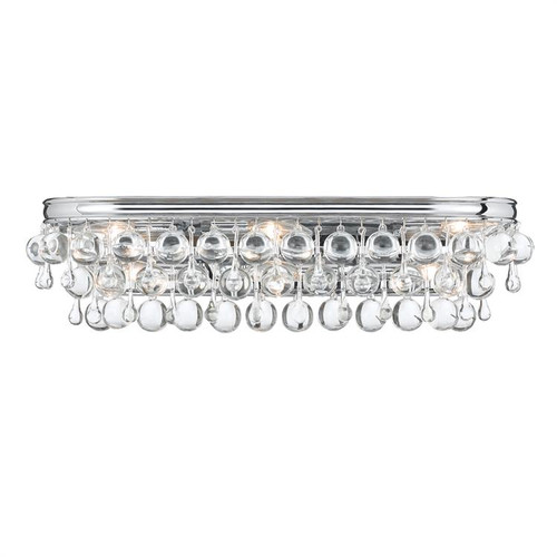 Crystorama Calypso 6 Light Chrome Vanity Light - 1