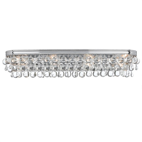 Crystorama Calypso 8 Light Chrome Vanity Light - 1