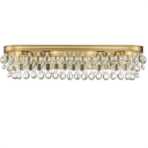 Crystorama Calypso 8 Light Vibrant Gold Vanity Light - 1