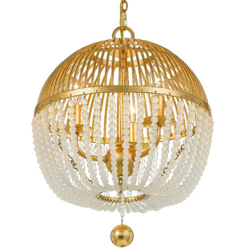 Crystorama Duval 3 Light Antique Gold Chandelier - 1
