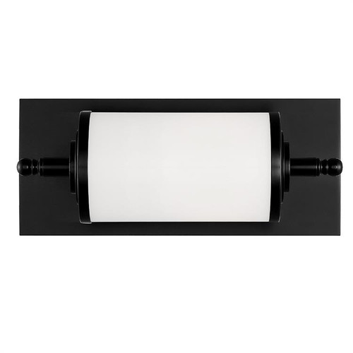 Crystorama Foster 1 Light Matte Black Bathroom Vanity Light - 1