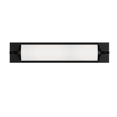 Crystorama Foster 1 Light Matte Black Bathroom Vanity Light 1 - 1