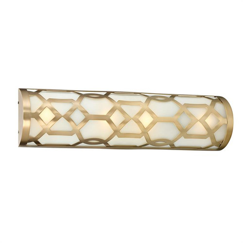 Crystorama Libby Langdon for 1 Light Aged Brass Bath Fixture - 1