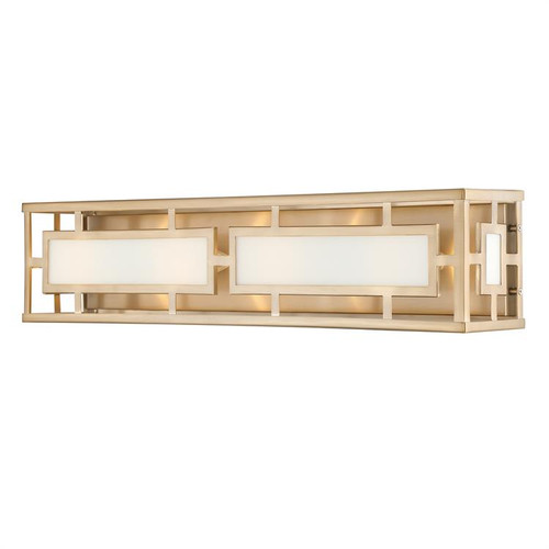 Crystorama Libby Langdon for Hillcrest 4 Light Vibrant Gold Bathroom Vanity Light - 1