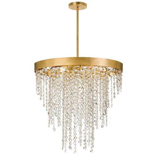 Crystorama Winham 6 Light Antique Gold Crystal Chandelier - 1
