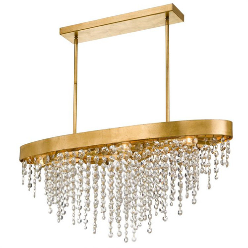 Crystorama Winham 8 Light Antique Gold Crystal Chandelier - 1