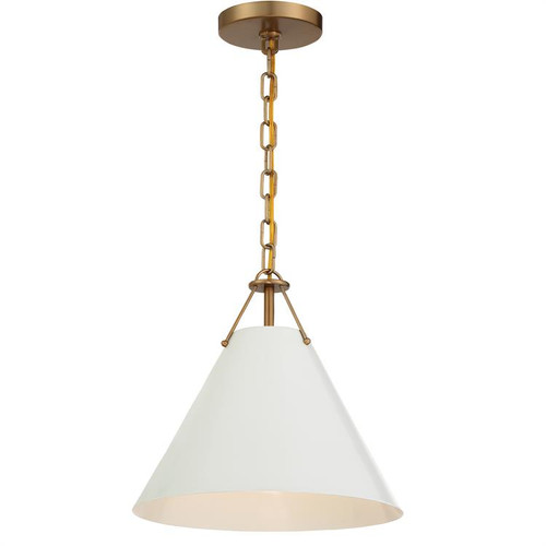 Crystorama Xavier 1 Light Vibrant Gold Pendant - 1
