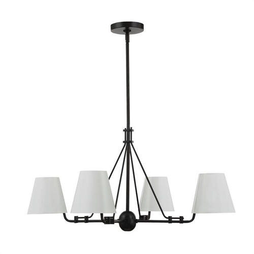 Crystorama Xavier 4 Light Matte Black Chandelier - 1