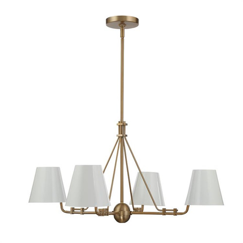 Crystorama Xavier 4 Light Vibrant Gold Chandelier - 1