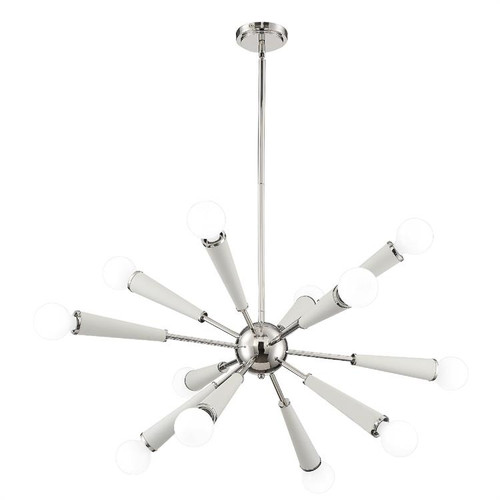 Crystorama Zodiac 12 Light Polished Nickel Chandelier - 1