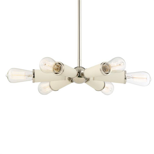 Crystorama Zodiac 6 Light Polished Nickel Chandelier 1 - 1