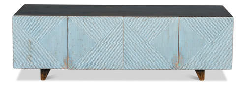"""22"""" Sarreid Low Wall Console Cabinet for TV - 1"""