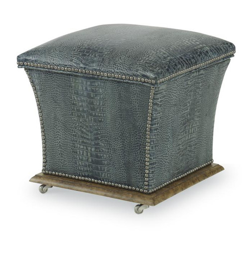 "18"" Century Furniture Gray's Storage Ottoman - 1"