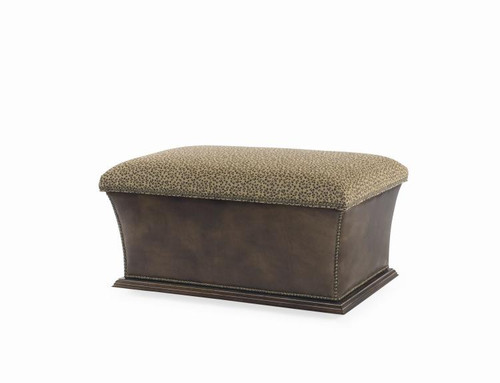 "19"" Century Furniture Warren Storage Ottoman - 1"