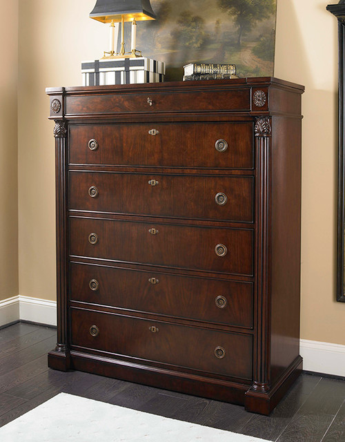 "56"" Century Furniture Wellington Court Tall Drawer Chest - 1"