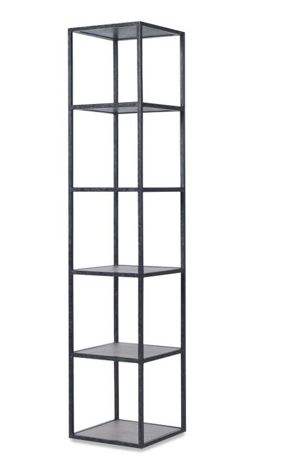 """75"""" Century Furniture Palmetto Tower Etagere- French Grey - 1"""