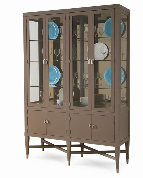 "80"" Century Furniture Metro Luxe China Cabinet - 1"