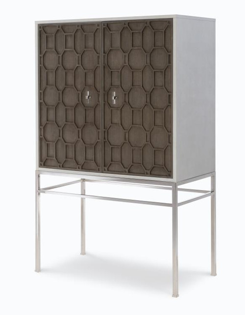 """65"""" Century Furniture Bar Cabinet with Mirrored Back Panel - 1"""