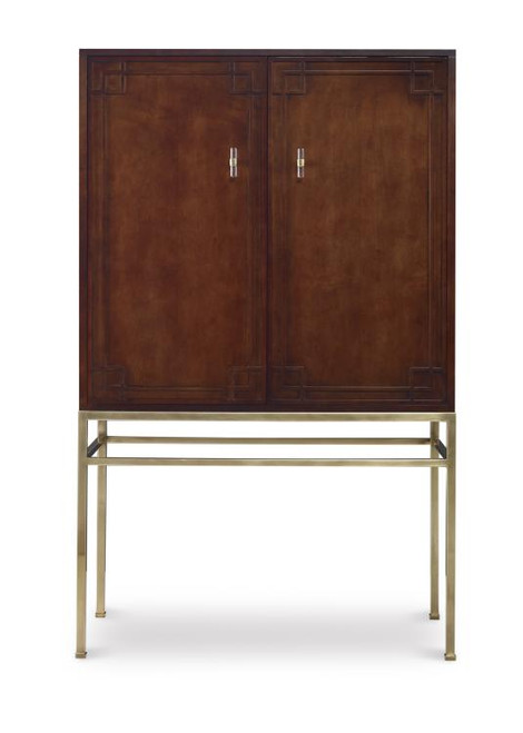 """65"""" Century Furniture Bar Cabinet with Wood Back Panel - 1"""