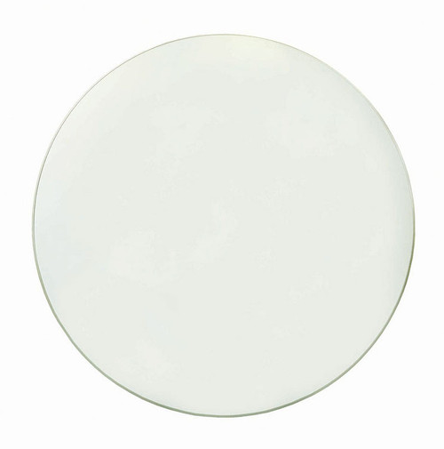 """1"""" Century Furniture Round Tempered Glass Dining Table Top with Flat Edge - 1"""