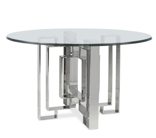 """28"""" Century Furniture Metal Dining Table Base for Glass Top - 1"""