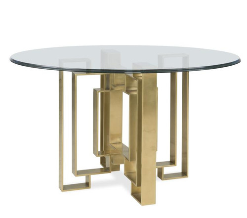 """28"""" Century Furniture Metal Dining Table Base for Glass Top 1 - 1"""