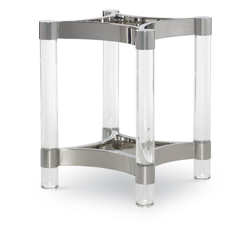 """28"""" Century Furniture Acrylic and Metal Dining Table Base for Glass Top - 1"""