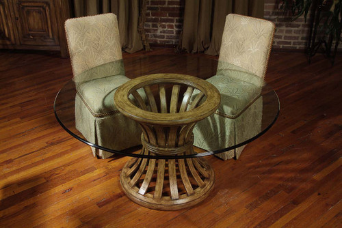 """1"""" Century Furniture Round Glass Dining Table Top - 1"""