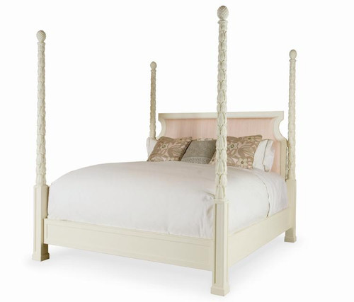 Century Furniture Chelsea Club King's Road Poster Bed with Uph Headboard - 1