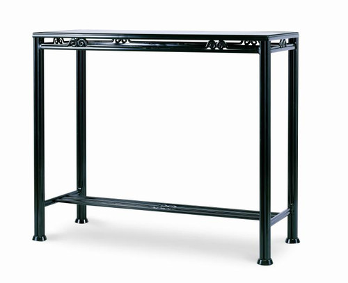 """39"""" Century Furniture Augustine Metal Bar Table with Tempered Glass - 1"""