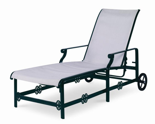 Century Furniture Augustine Metal Articulating Sling Chaise - 1