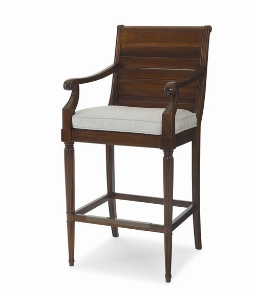 """47"""" Century Furniture Bar Stool with Arms - 1"""