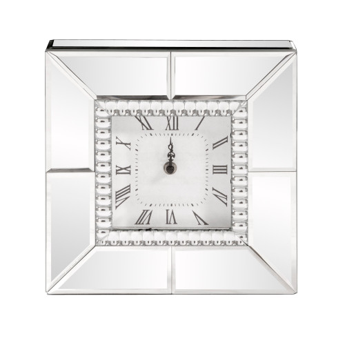 Howard Elliott Mirrored Glass Table Clock - 1