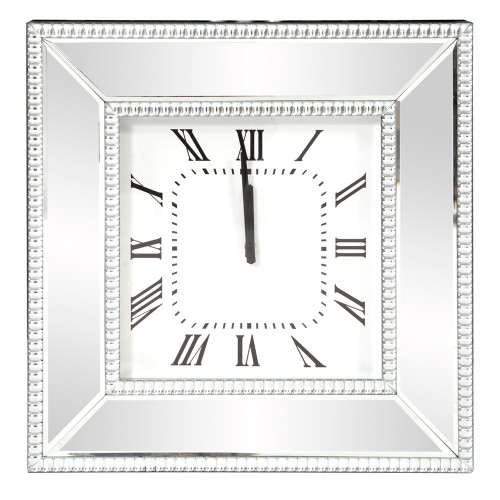 "20"" Howard Elliott Mirrored Glass Wall Clock - 1"