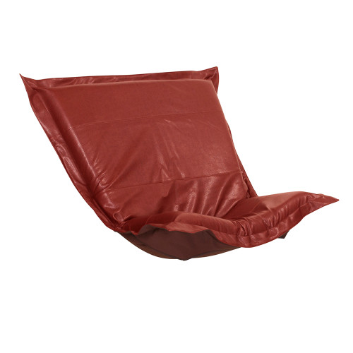 Howard Elliott Puff Chair Cushion Faux Leather Avanti Apple Cushion and Cover Only - 1