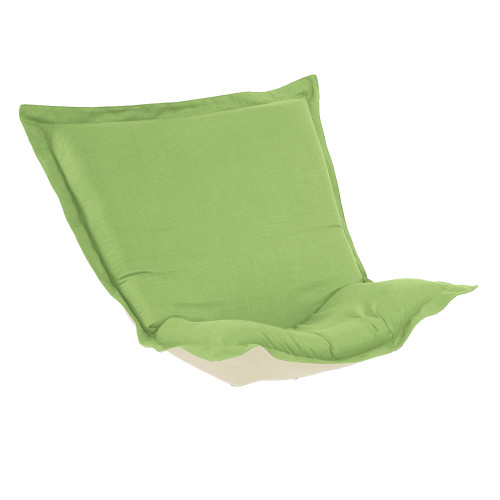 Howard Elliott Puff Chair Cushion Linen Slub Grass Cushion and Cover Only - 1