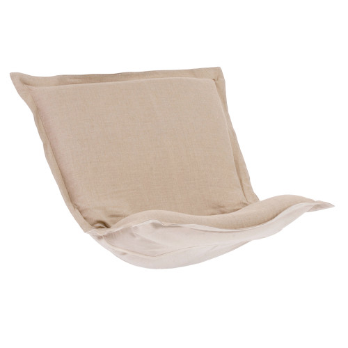 Howard Elliott Puff Chair Cushion Linen Slub Natural Cushion and Cover Only - 1