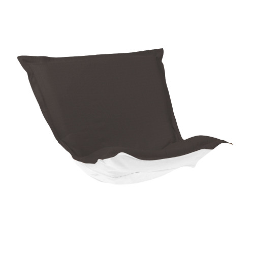 Howard Elliott Puff Chair Cushion Outdoor Sunbrella Seascape Charcoal Polyester Cushion and Cover - 1