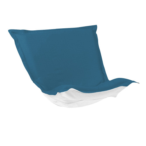 Howard Elliott Puff Chair Cushion Outdoor Sunbrella Seascape Turquoise Polyester Cushion and Cover - 1