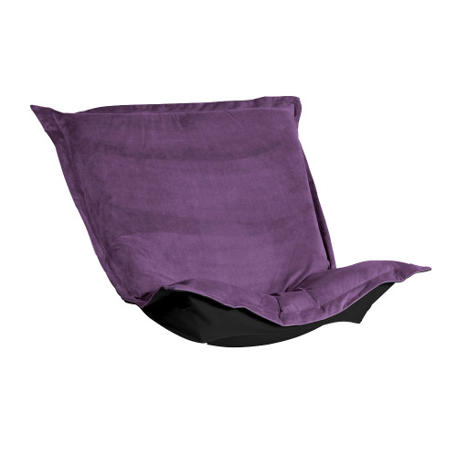 Howard Elliott Puff Chair Cushion Velvet Bella Eggplant Cushion and Cover Only - 1