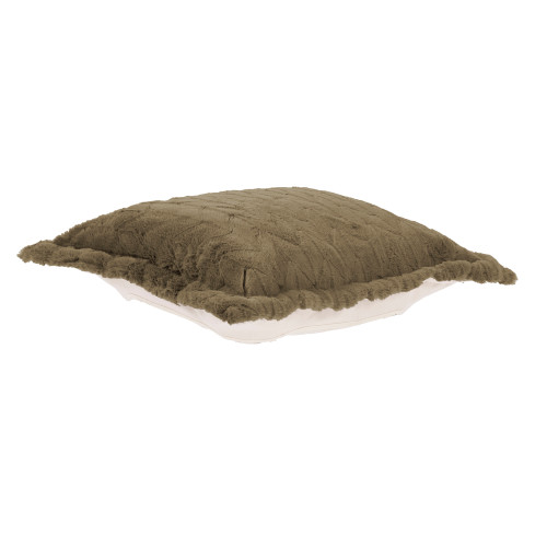 Howard Elliott Puff Ottoman Cushion Faux Fur Angora Moss Polyester Cushion and Cover Only - 1
