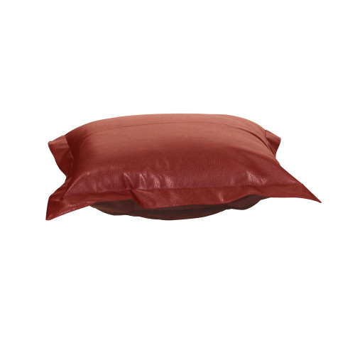 Howard Elliott Puff Ottoman Cushion Faux Leather Avanti Apple Cushion and Cover Only - 1