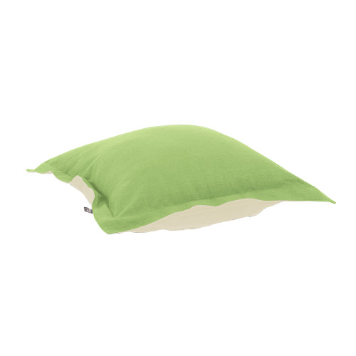 Howard Elliott Puff Ottoman Cushion Linen Slub Grass Cushion and Cover Only - 1