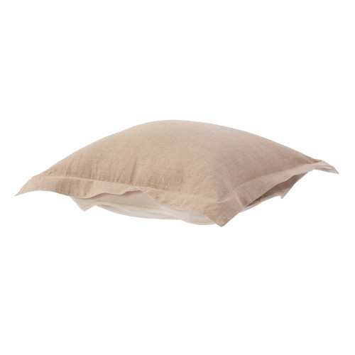 Howard Elliott Puff Ottoman Cushion Linen Slub Natural Cushion and Cover Only - 1