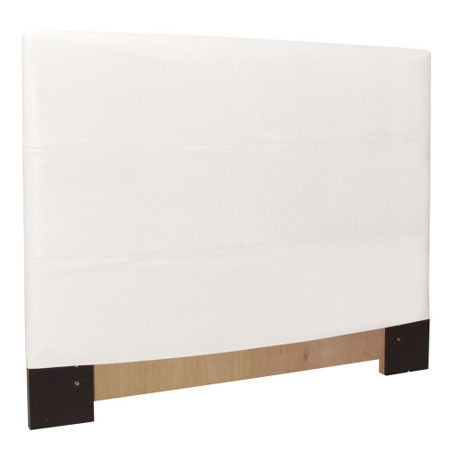 "48"" Howard Elliott Twin Slipcovered Headboard Faux Leather Avanti White - Base and Cover Included - 1"