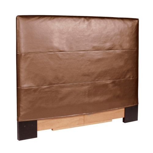 "48"" Howard Elliott Twin Slipcovered Luxe Bronze Headboard - 1"