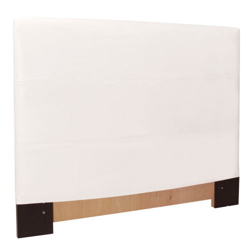 "53"" Howard Elliott FQ Slipcovered Headboard Faux Leather Avanti White - Base and Cover Included - 1"