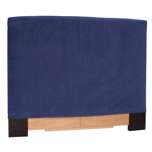 "53"" Howard Elliott FQ Slipcovered Headboard Velvet Bella Royal - Base and Cover Included - 1"
