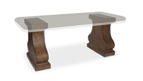 """10"""" Inspired Visions Ava Dining Pedestal Table Base - 1"""